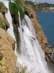 водопад в Анталии. Смотрели с площадки, если честно, то с моря мне понравилось на много больше