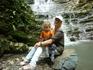 У подножия водопада