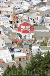 вид на церковь Линдоса с Акрополя