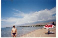 Пляж пансионата Илбирс