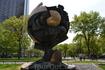 Это осталось от глобуса у Всемирного Торгового Центра, сейчас находится в Бэттери парке