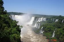 Самый большой водопад -Глотка  дьявола