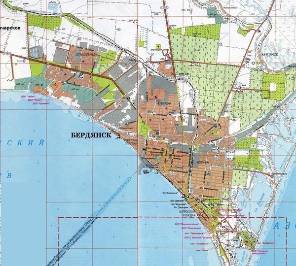 Бердянск карта схема скачать
