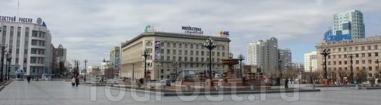 на главной площади