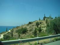 Вид из окна автобуса на пути из Лимассола в Пафос.