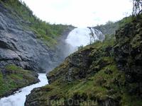 Водопады вдоль склонов