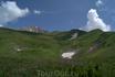 Где-то внизу уже виднеется озеро Псенодах