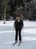 Вот качусь на лыжах с горки снеговой.