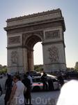 Ну а это уже Париж, Триумфальная арка