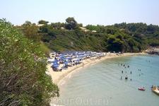 Греция. о.Кефалония. Ласси. Пляж у отеля Медитарранц.