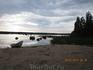 Закат на финском озере