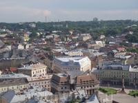 Вид со смотровой площадки  башни. гостиница Жорж в центре - замкнутый 4-х угольник