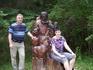 Вот такие замечательные деревянные скульптуры встречают вас на каждом повороте парка
