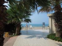 Путь на пляж.