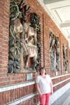 Такими панно украшены стены около Ратуши
