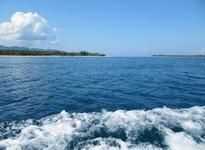 на лодке к островам Gili