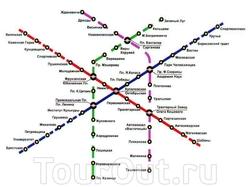 Карта метро Минска
