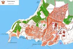 Карта Севастополя Северная сторона