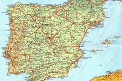 Карта городов Испании