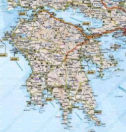 Карта Пелопоннеса