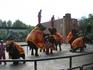 Китай, Далянь. шоу тайских слонов в зоопарке