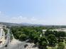 Вид с башни на город. Вдалеке - телебашня и археологический музей.