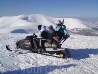 """На вершину Гембы от верхней станции подъёмника  можно """"взлететь на снегоходе"""""""