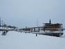 Безлюдный и заснеженный причал у Сайменского озера Лаппеенранты