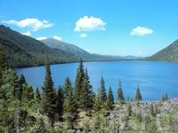 Вид  от Среднего озера.