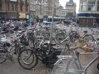 Парковка велосипедов.