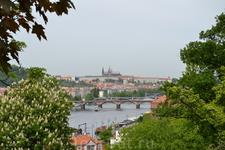 Вид на Пражский град с Вышеграда, Прага
