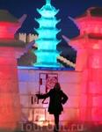 Снежно - Ледяное Китайское творение в Финляндии ( Леви )