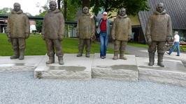 Фото на память с норвежскими полярниками.