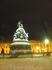 Вид памятника 1000-летию Руси ночью.