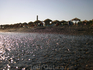 о. Санторини Пляж с чёрным вулканическим песком