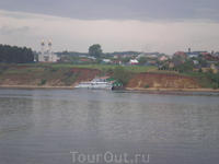 Деревня на берегу Волги