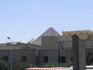 Вид на пирамиды из города