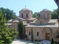 В горах Олимпа. Монастырь Св.Дионисия Олимпийского