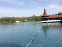 А это купальня на озере Хевиз. Площадь озера составляет 4,7 га - это самое большое термальное озеро в Европе! При этом вода в озере полностью обновляется ...