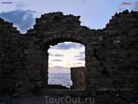 Крепость Акко на закате.