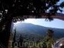 пос. Олюдениз окружен со всех сторон горами покрытыми хвойной растительностью