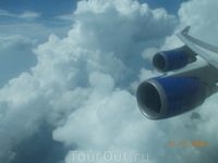 Вылетели из густого облака:)