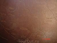 вот так выглядит карта Эстонии на глобусе