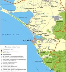 Анапа на карте