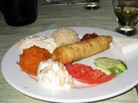национальное угощение на вечере -  Турецкая ночь