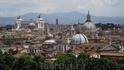 Вид на Рим с замка Св Ангела