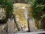 Железная дорога на водопадиком. Интересные впечатления, когда видишь шпалы и журчащую под ними воду.