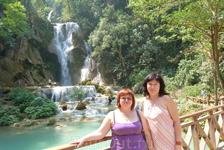 Каскадный водопад Куанг Си.