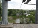 Граница между Европой и Азией проходит по реке Урал. Переправа в Азию. Рядом еще пешеходный мост. По нему тоже можно
