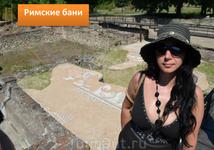 На раскопках древнеримских бань в Дионе (Греция)